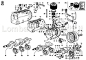 Picture of CONN.ROD/ PISTON/ CYLINDER/ CRANKSHFT/ FLYWHEEL/ CRANKCASE/ FLANGING/ MOUNTS/ BREATHER