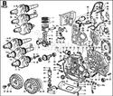 Immagine per la categoria B - BIELLA/ PISTONE/ ALBERO GOM./ VOLANO/ BASAMENTO/ FLANGIATURA