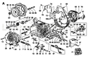 Picture of CRANKCASE/ FLANGING/ CONTROLS/ OIL DIPSTICK/ OIL PUMP/ COOLING PANELS/ RECOIL/ GASKET SET