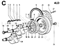 Picture of CRANKSHAFT/ FLYWHEEL SIDE CRANKSHAFT SUPPORT/ FLYWHEEL